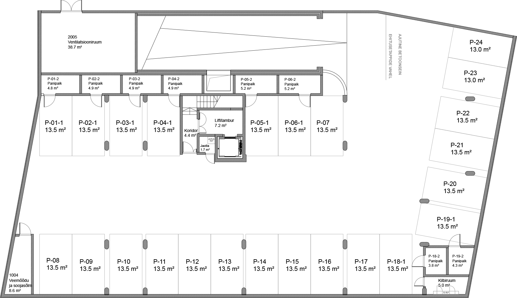Floor 0 plan of Kiikri Apartment House A