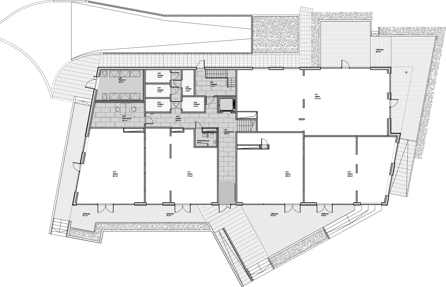 Floor 1 plan of Kiikri Apartment House A
