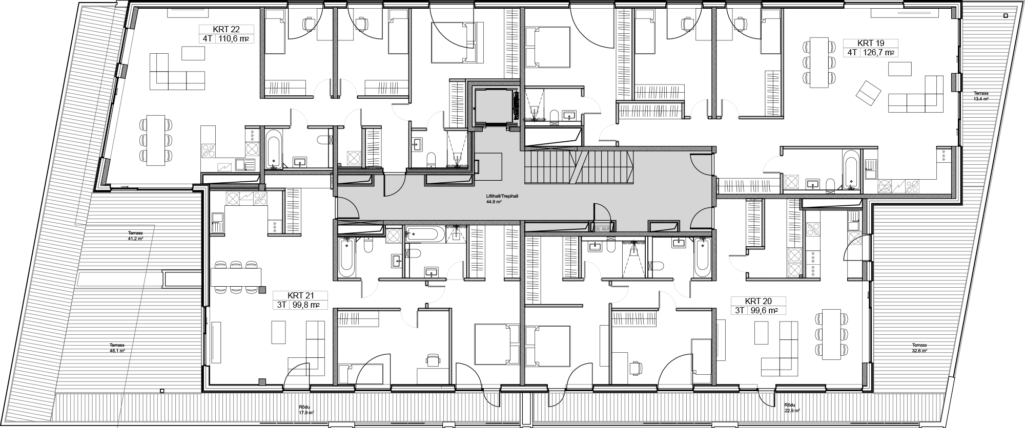 Floor 5 plan of Kiikri Apartment House A