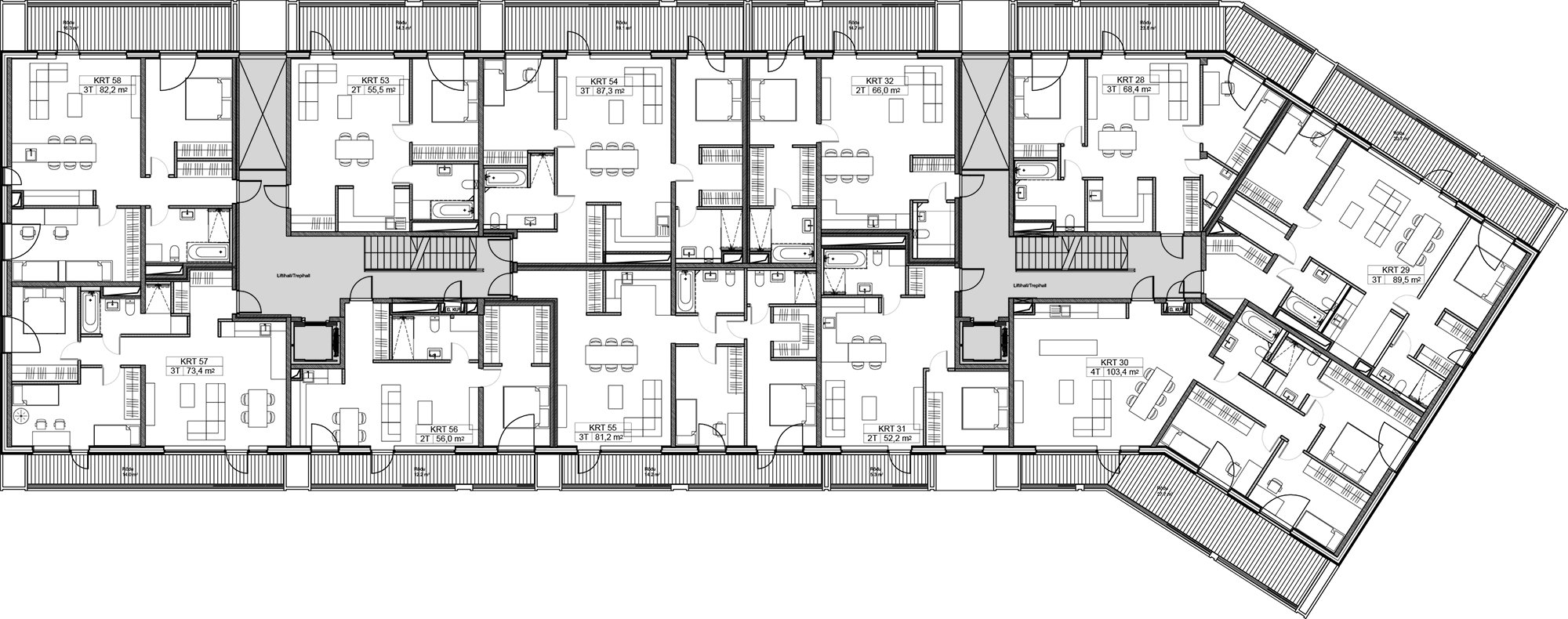 Floor 2 plan of Kiikri Apartment House B
