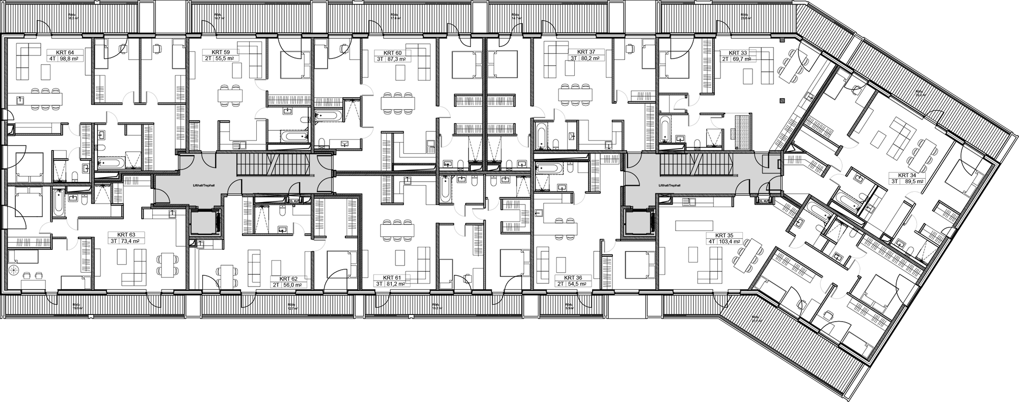 Floor 3 plan of Kiikri Apartment House B