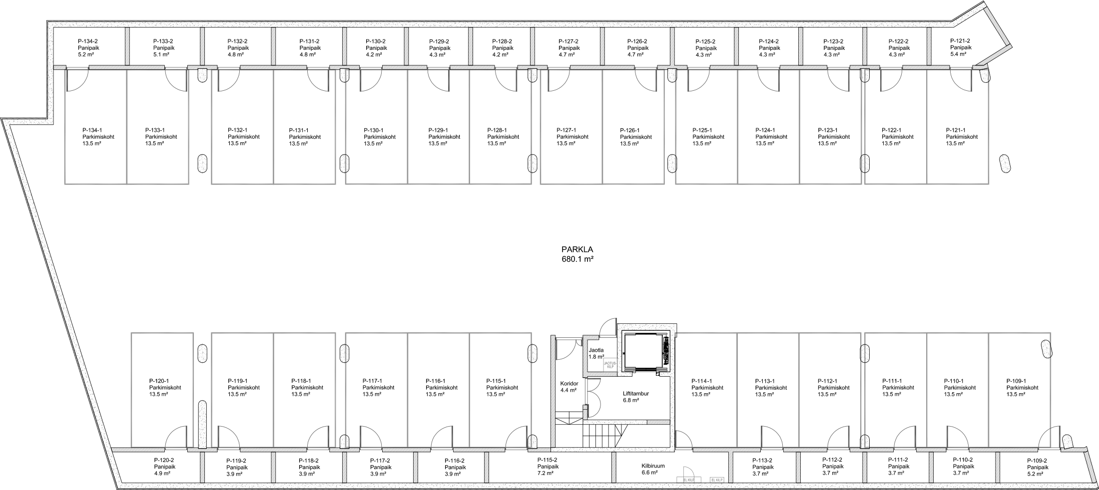 Floor 0 plan of Kiikri Apartment House C