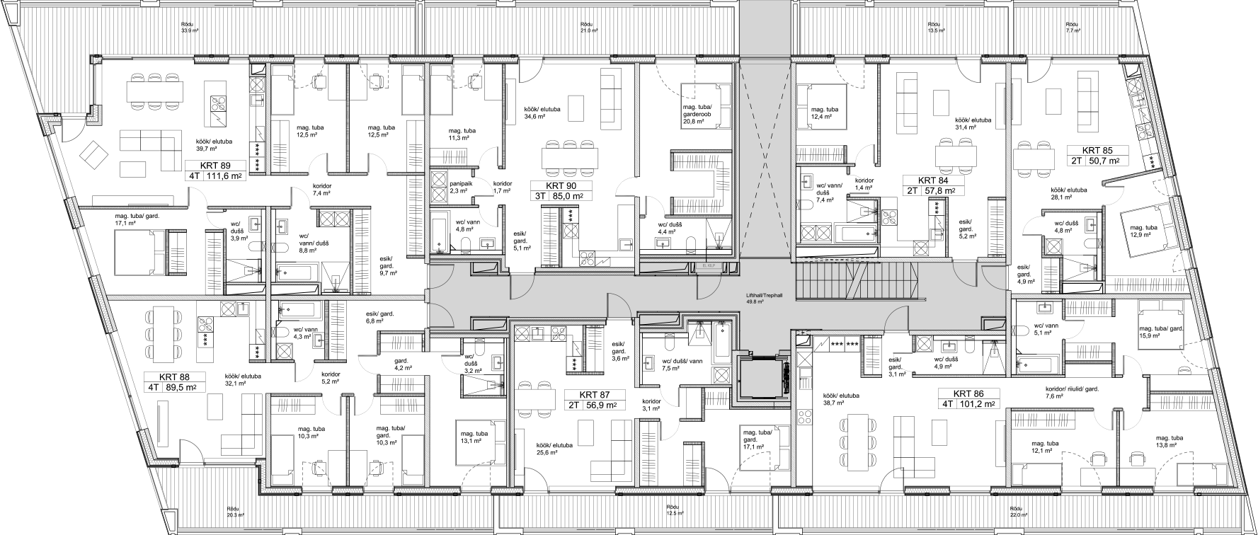 Floor 2 plan of Kiikri Apartment House C