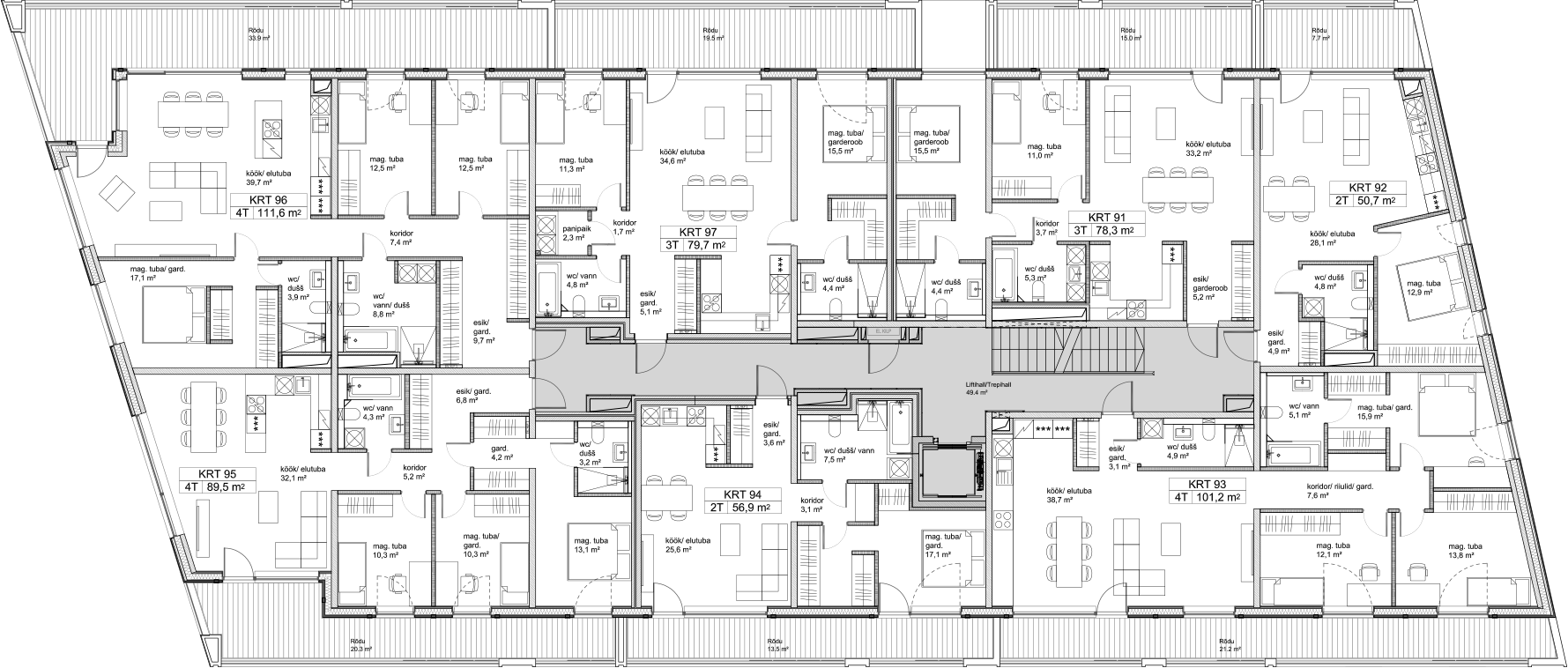 Floor 3 plan of Kiikri Apartment House C