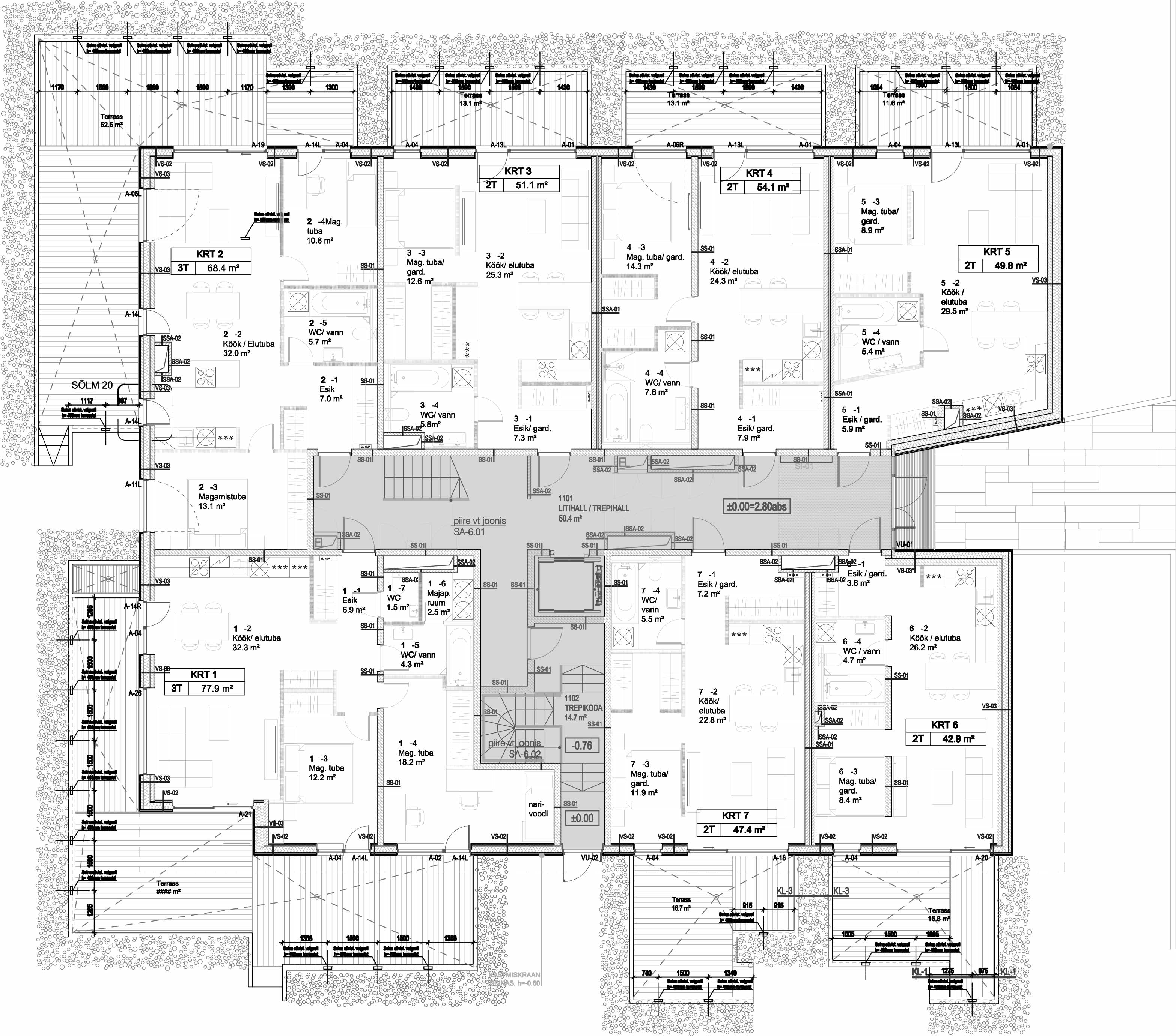 Floor 1 plan of Tuukri 25 Apartment House