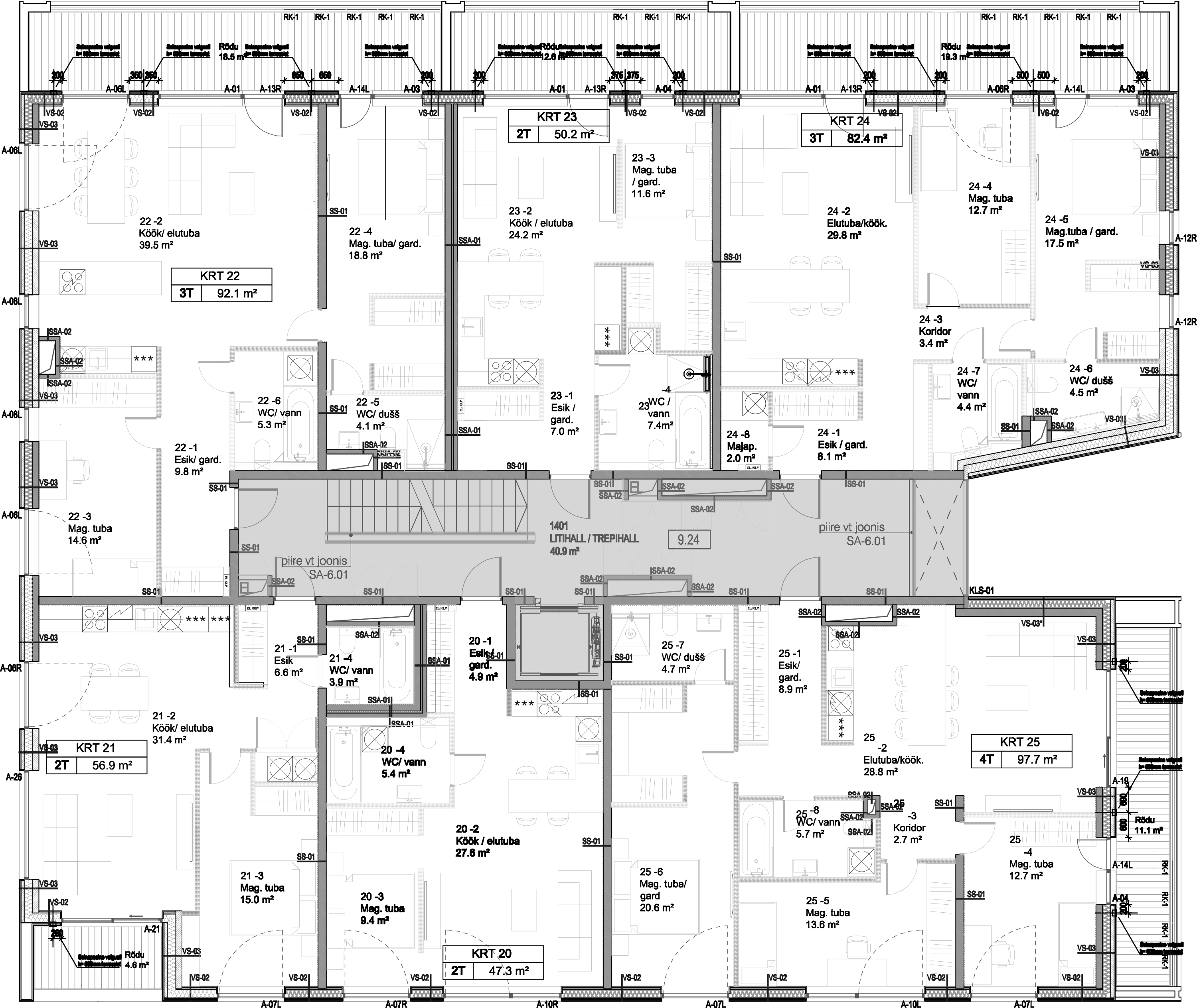 Floor 4 plan of Tuukri 25 Apartment House