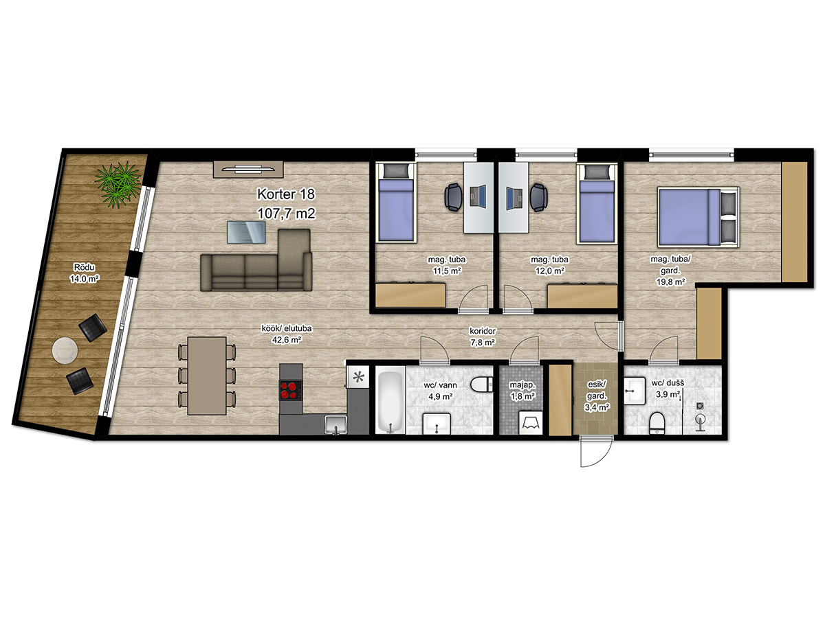 Apartment no 18 plan