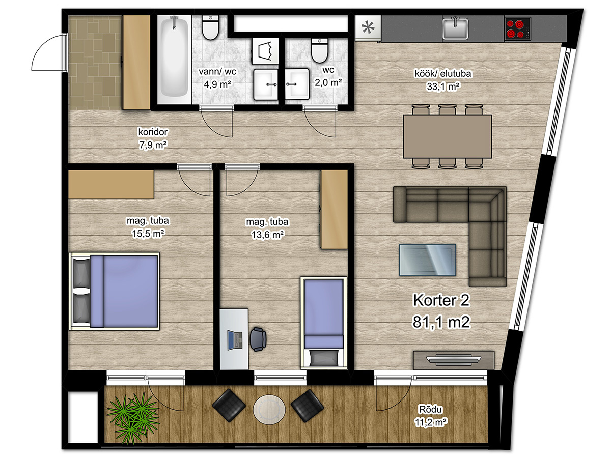 Apartment no 2 plan