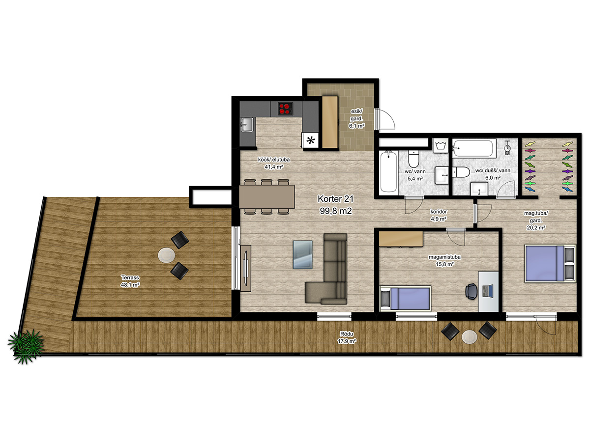 Apartment no 21 plan