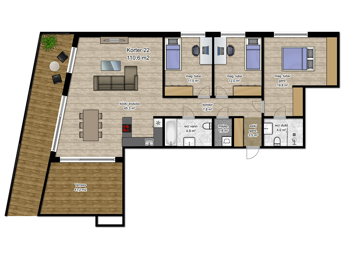 Apartment no 22 plan