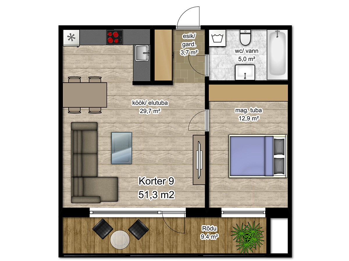 Apartment no 9 plan