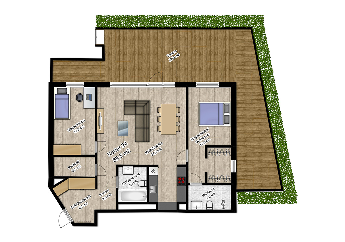 Apartment no 24 plan