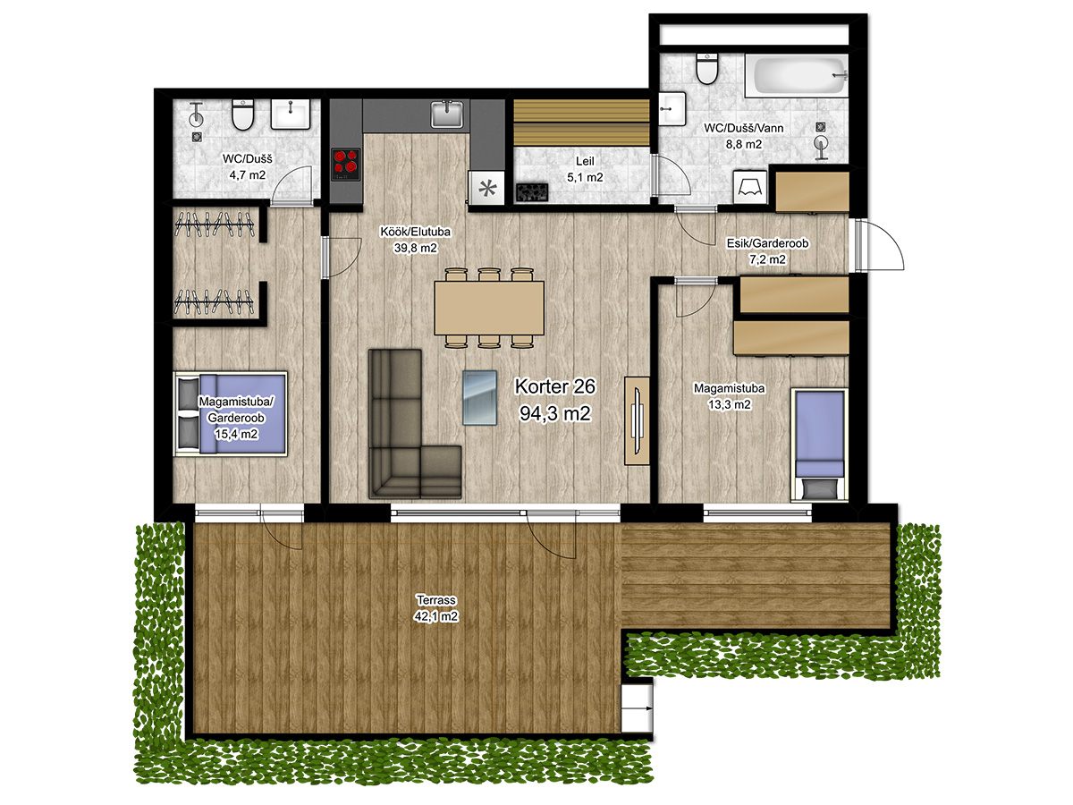 Apartment no 26 plan