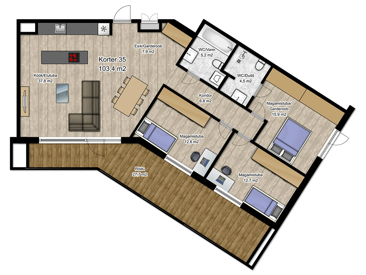 Apartment no 35 plan