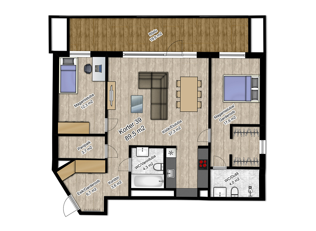 Apartment no 39 plan
