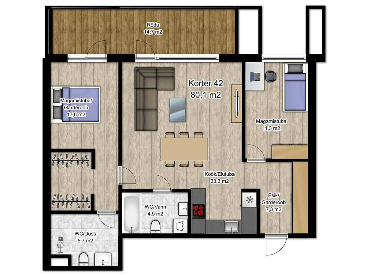 Apartment no 42 plan