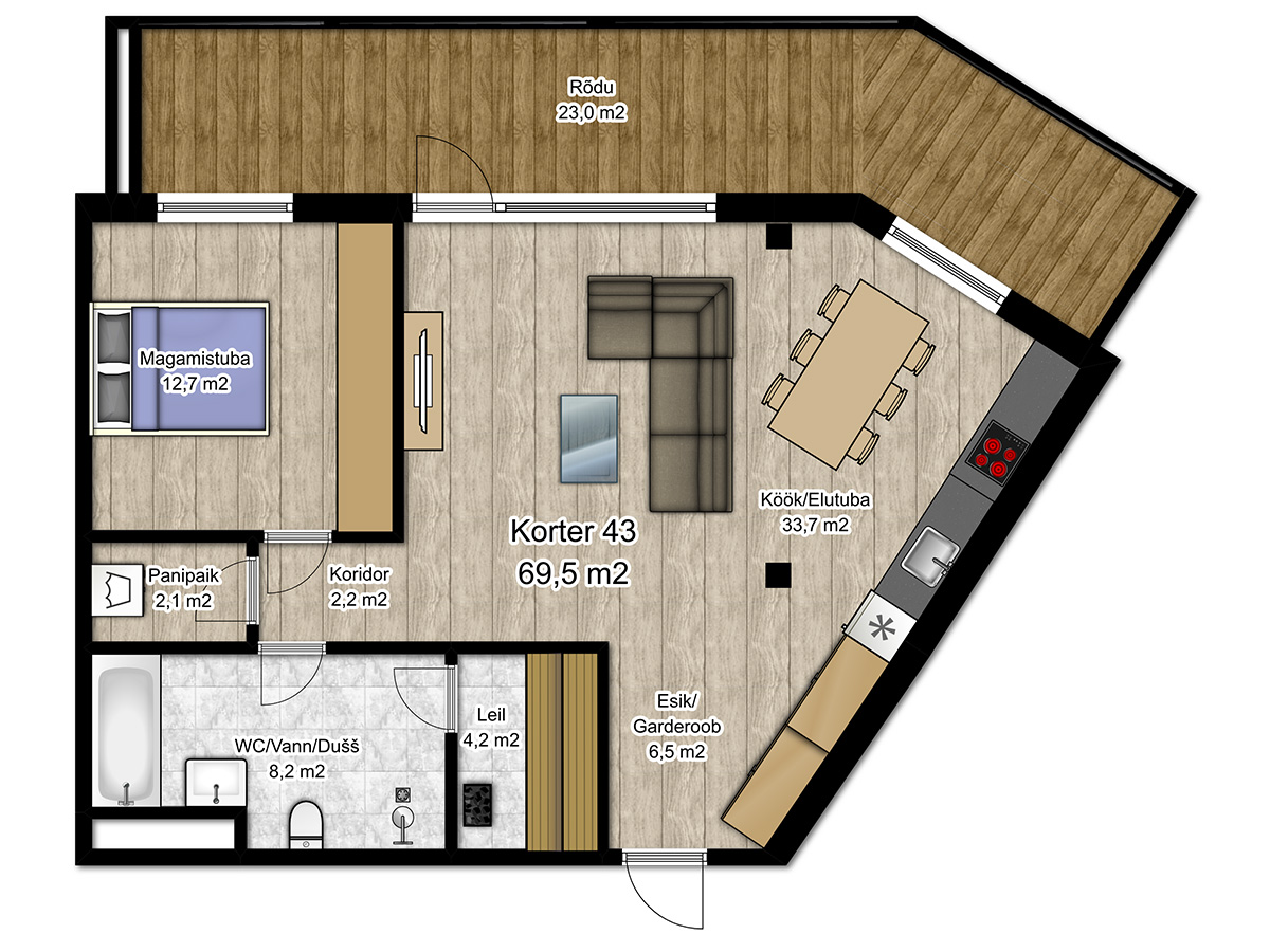 Apartment no 43 plan