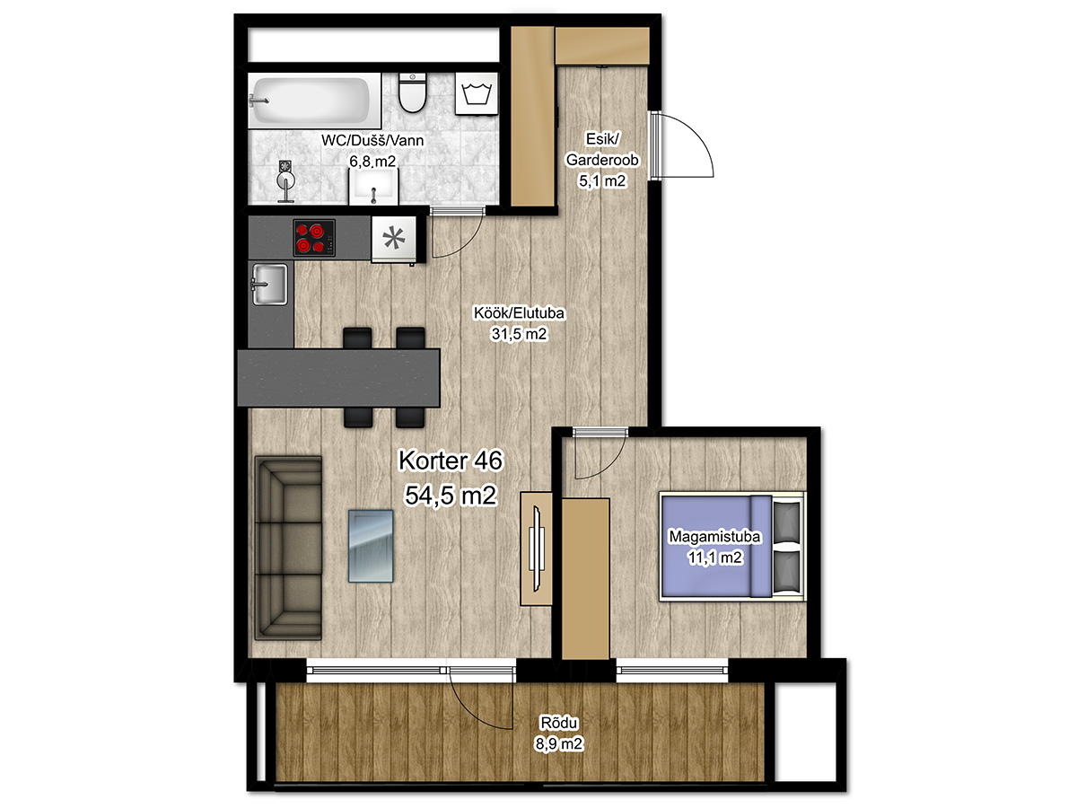 Apartment no 46 plan