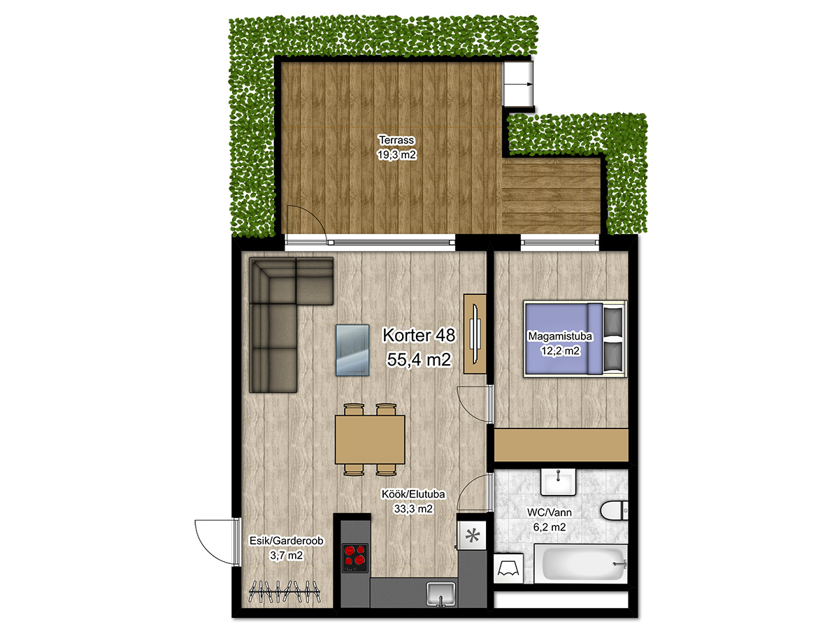 Apartment no 48 plan