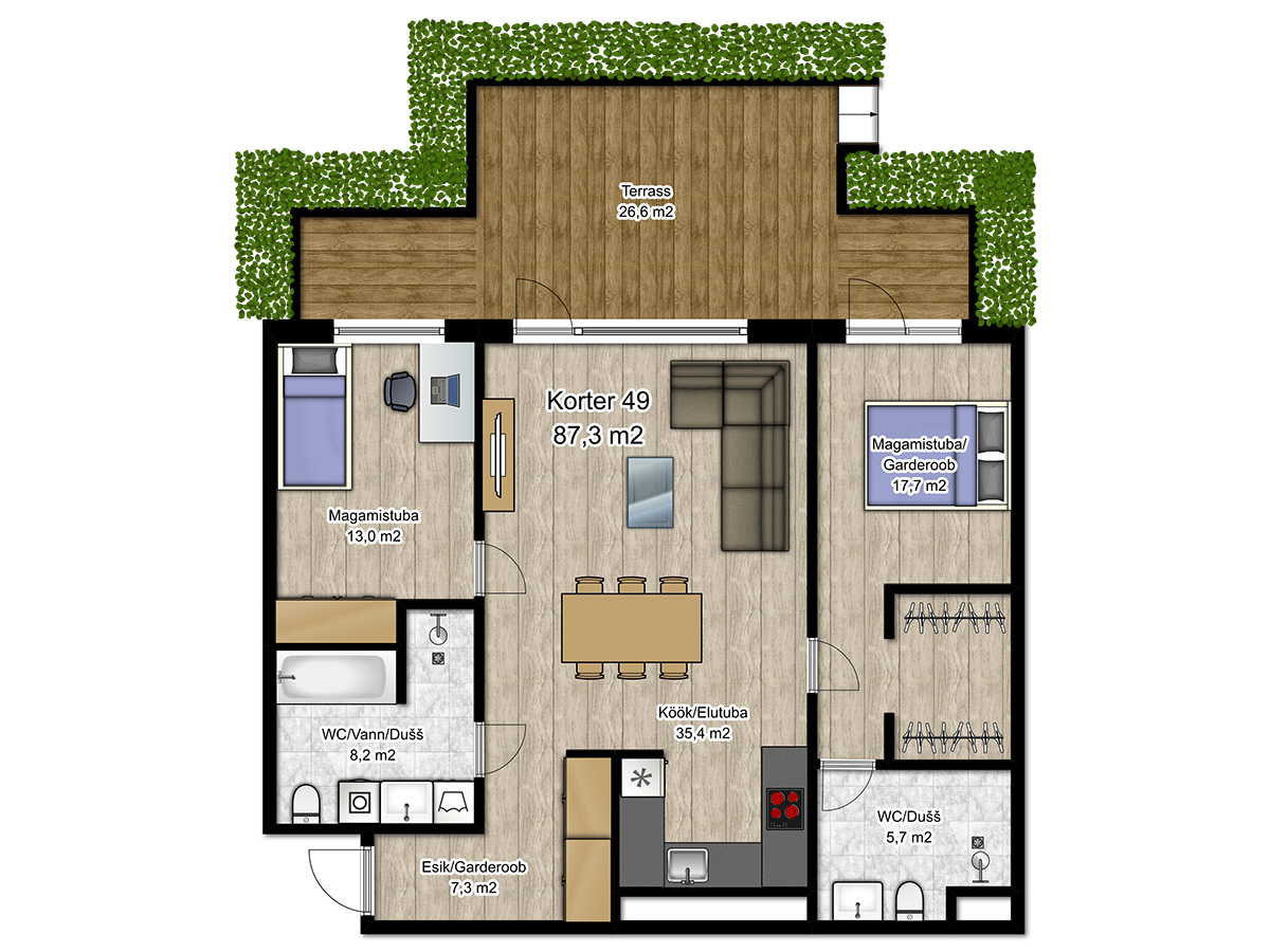 Apartment no 49 plan