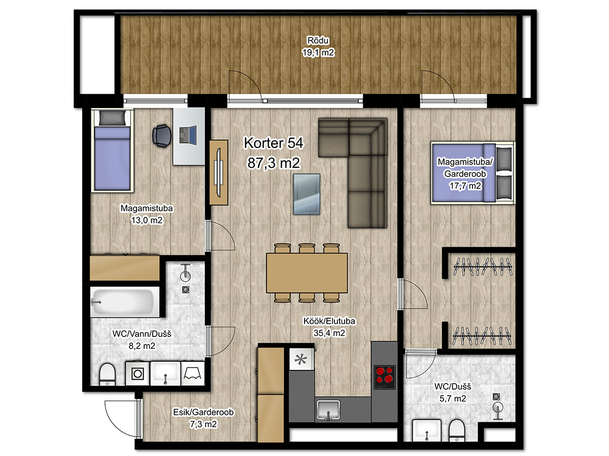 Apartment no 54 plan