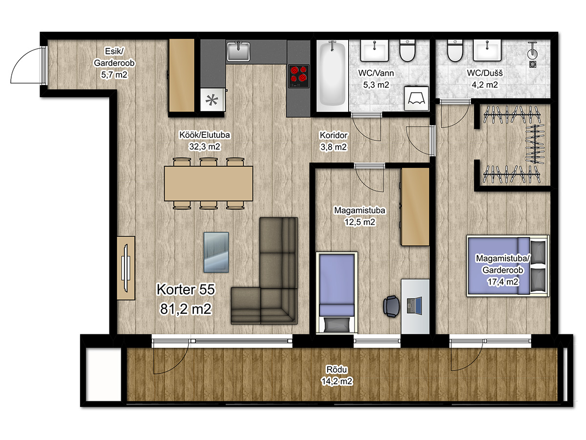 Apartment no 55 plan