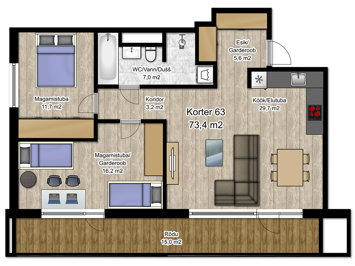 Apartment no 63 plan