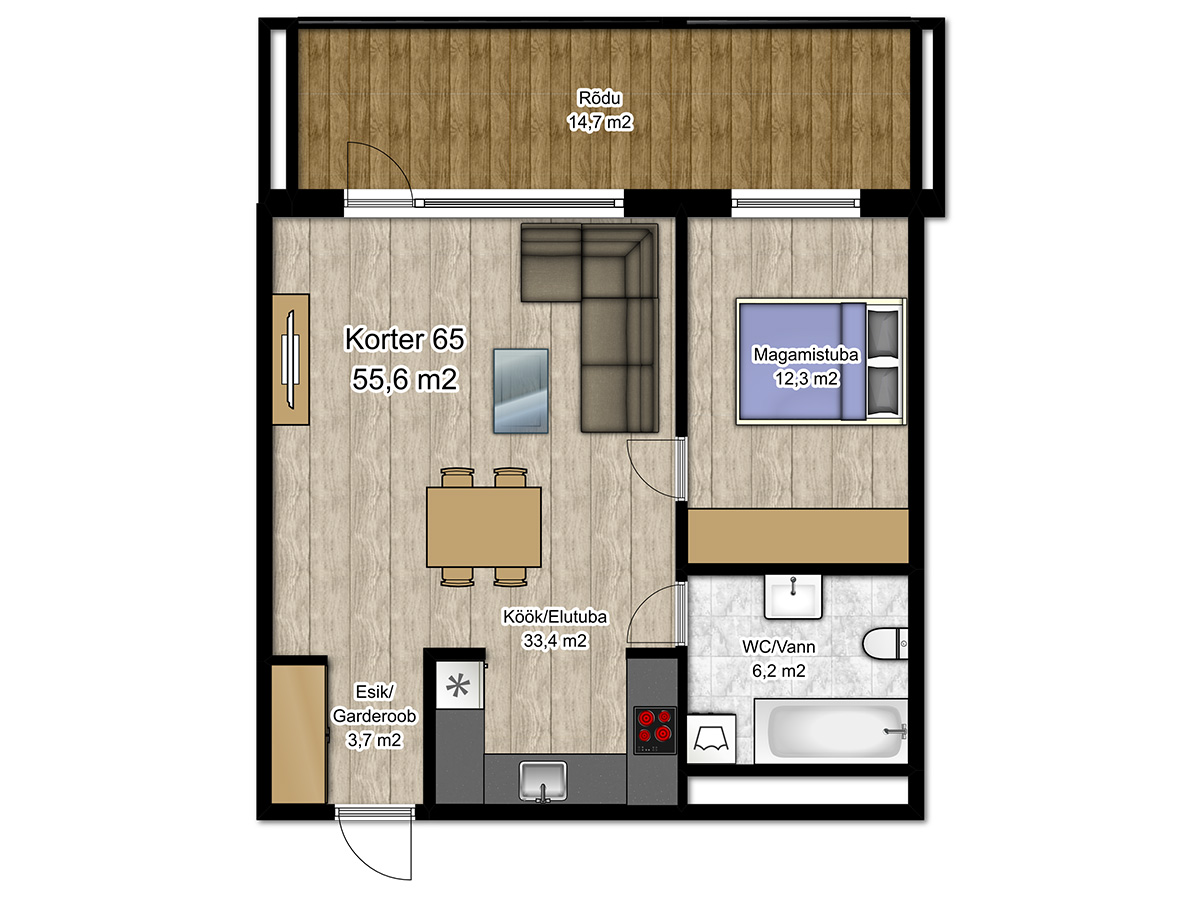 Apartment no 65 plan