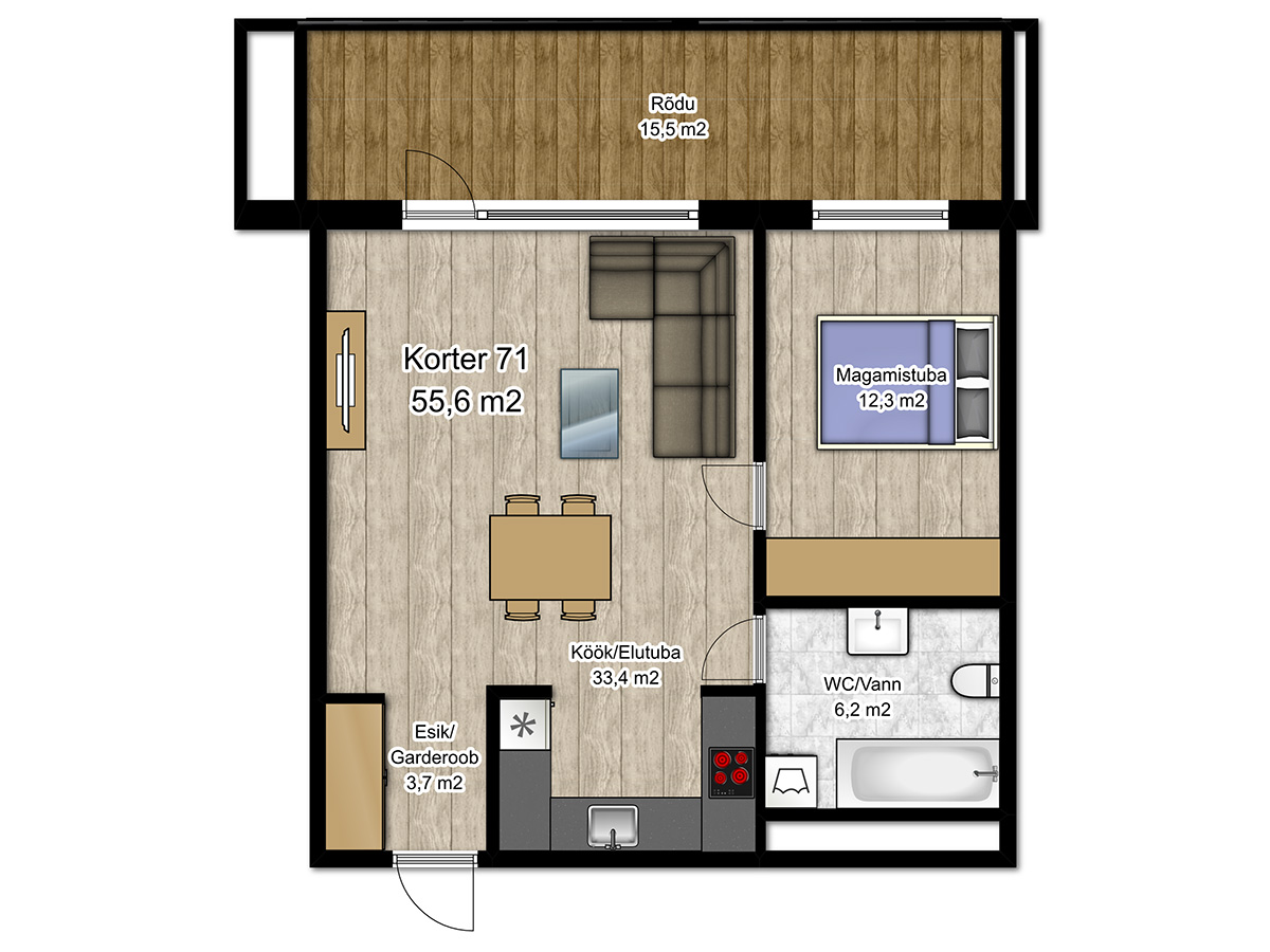 Apartment no 71 plan
