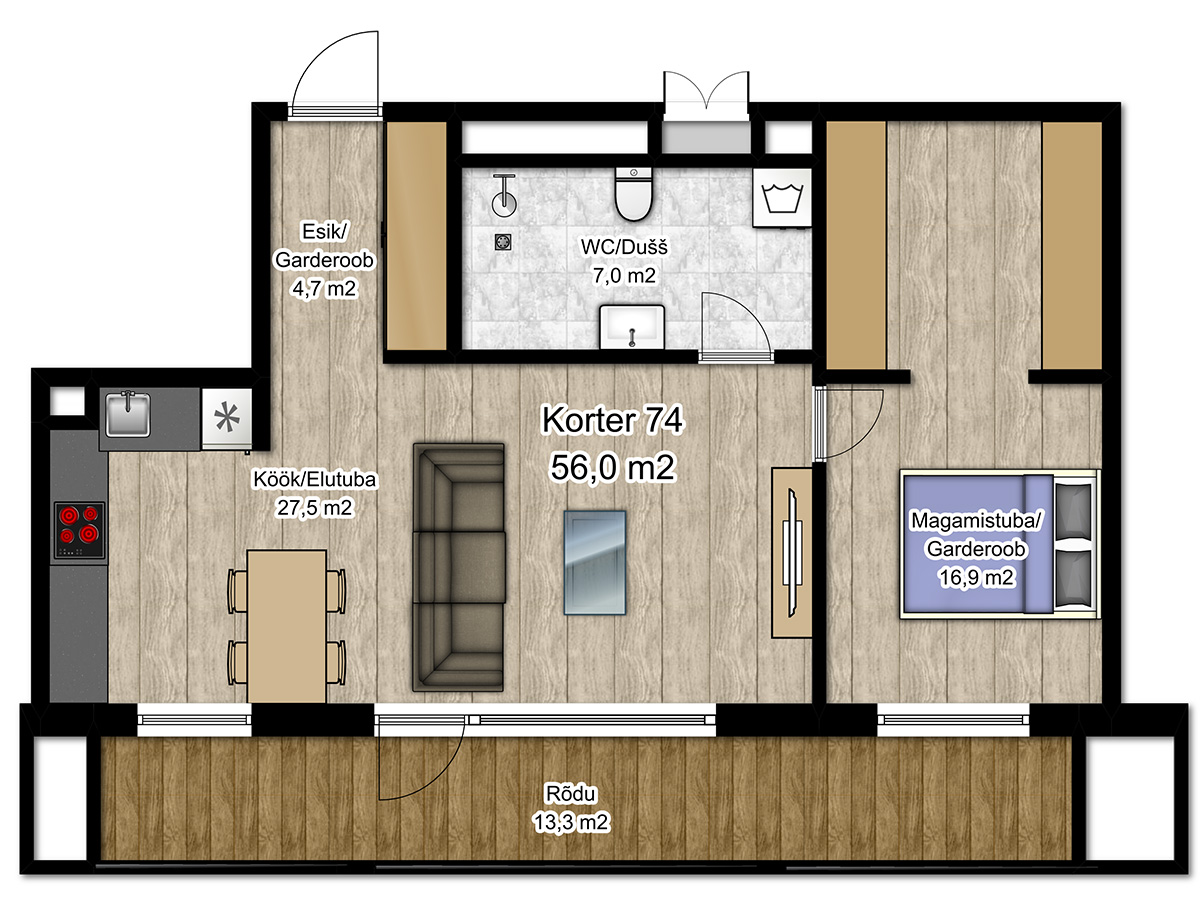 Apartment no 74 plan
