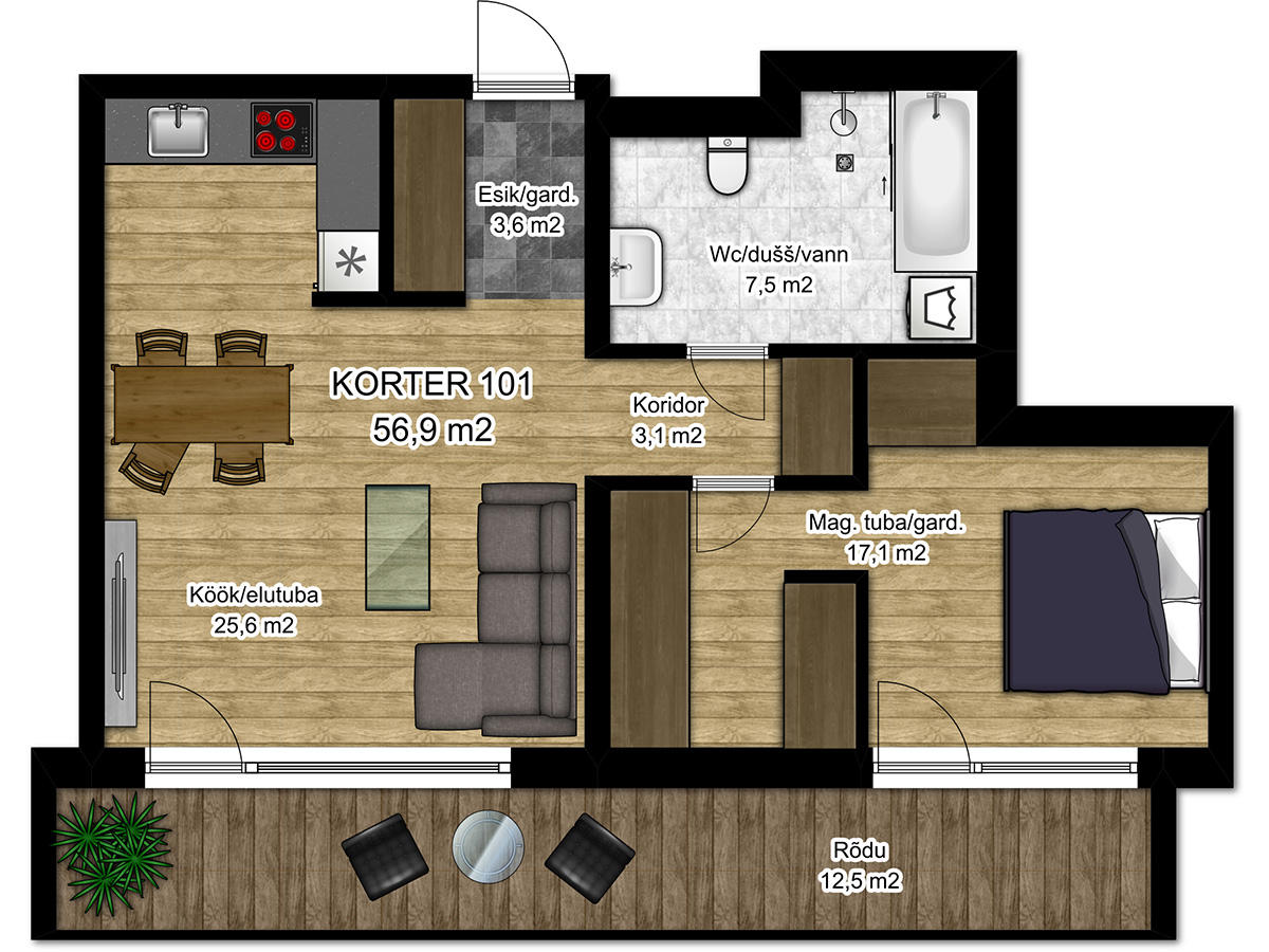 Apartment no 101 plan