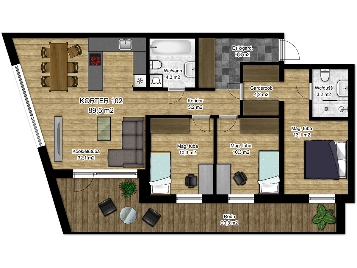 Apartment no 102 plan
