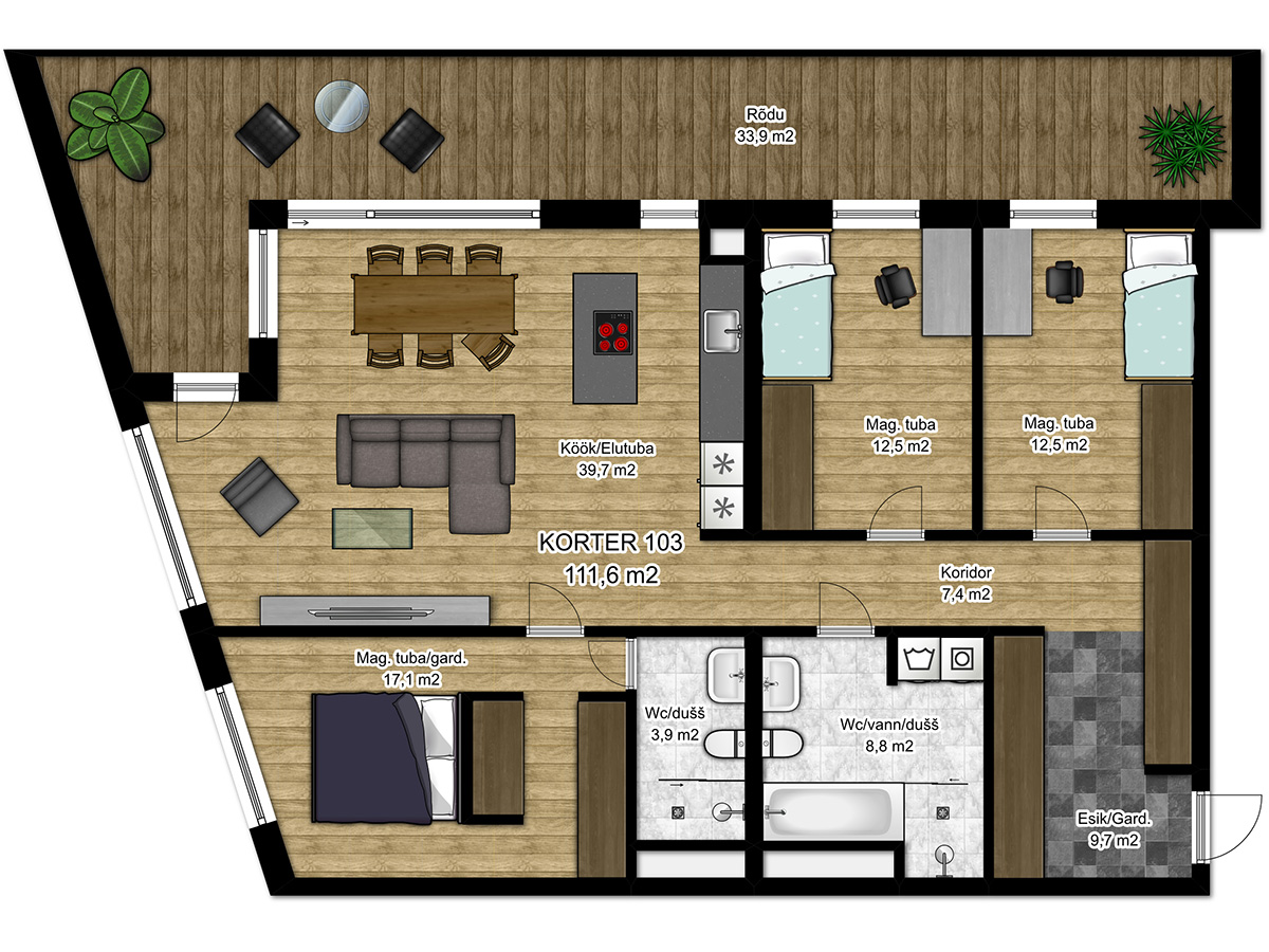 Apartment no 103 plan