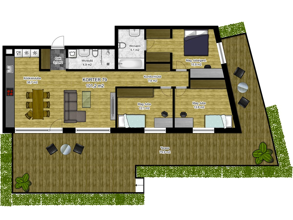 Apartment no 79 plan
