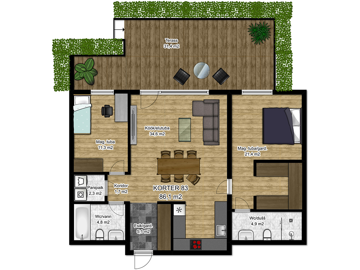Apartment no 83 plan