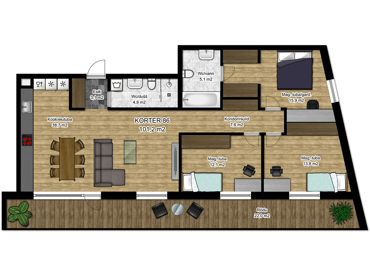 Apartment no 86 plan