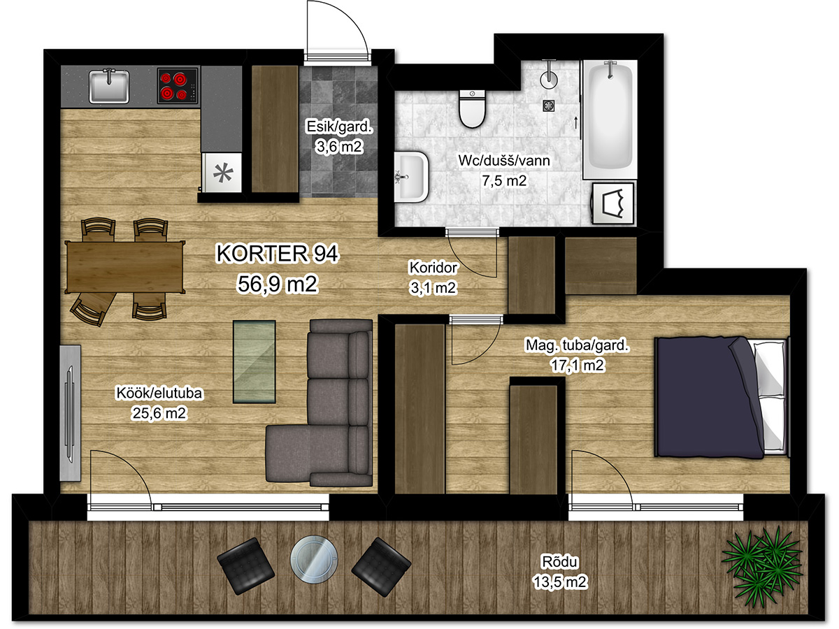 Apartment no 94 plan