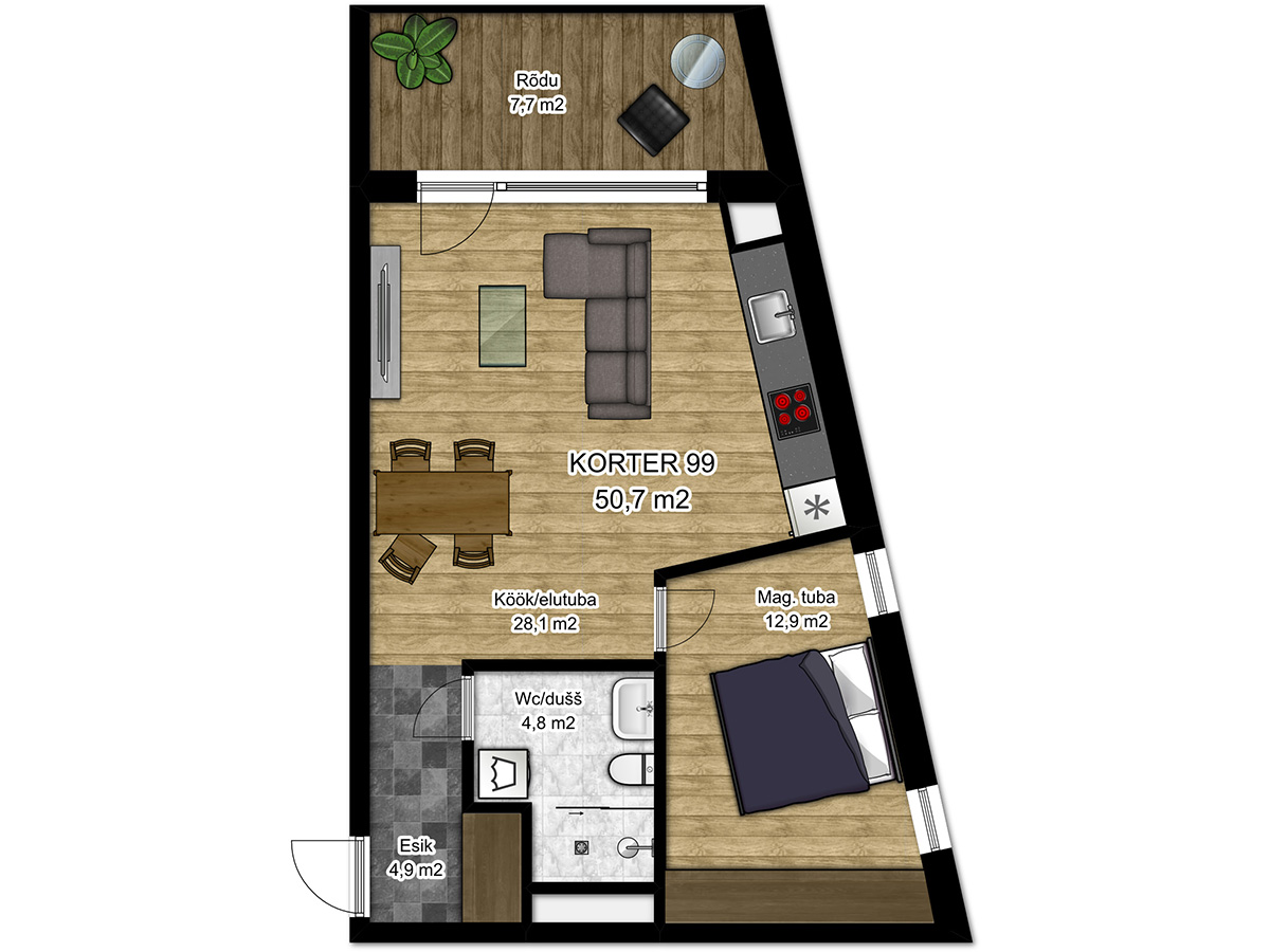 Apartment no 99 plan