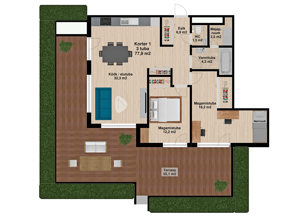 Apartment no 1 plan