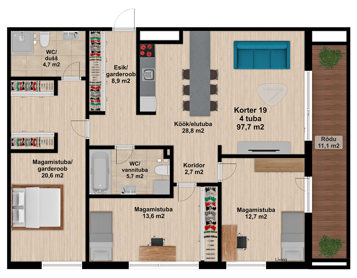Apartment no 19 plan