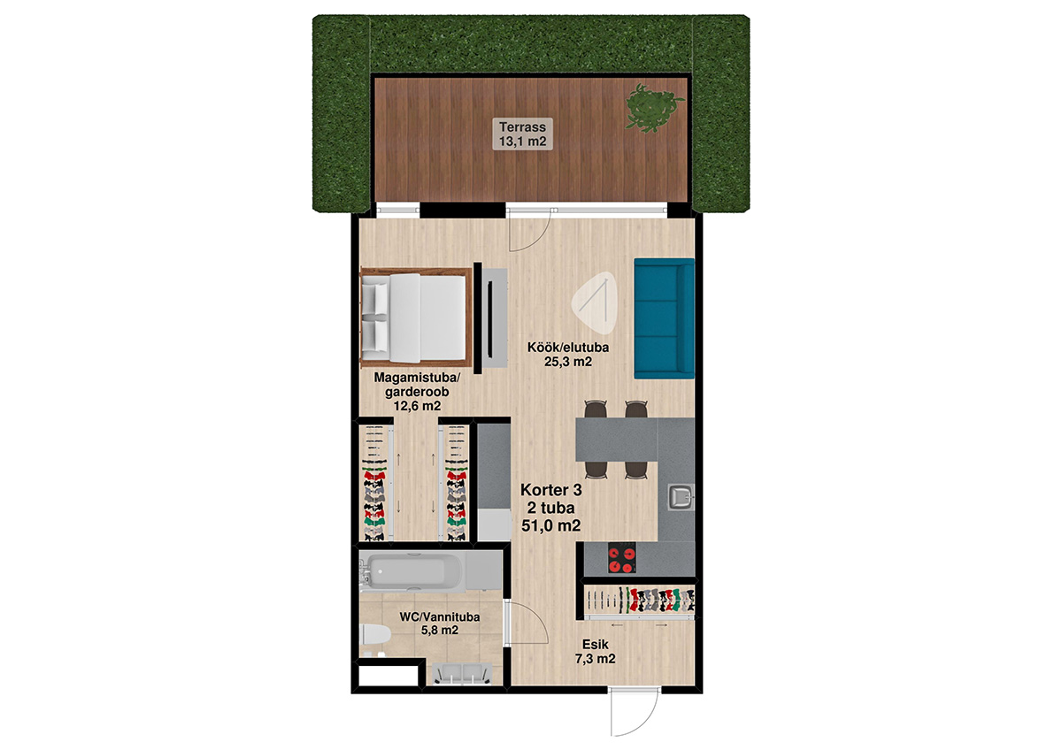 Apartment no 3 plan