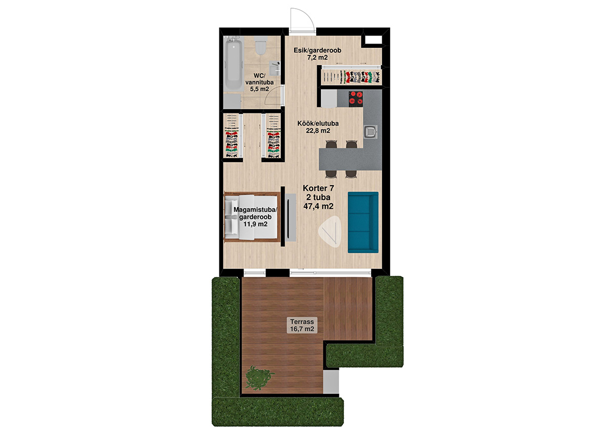 Apartment no 7 plan